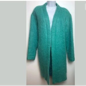 CARLISLE Mohair Wool Jacket Turquoise Teal Blue